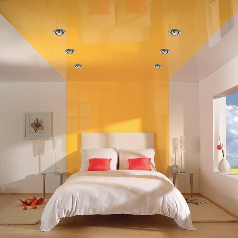 Как сделать натяжной потолок в спальни 436