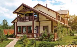 Лучший загородный дом из дерева