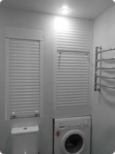 Рольставни для сантехнического шкафа в туалете
