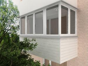 Цена отделки балкона под ключ