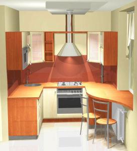 Интерьер современной небольшой кухни